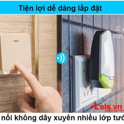 Chuông cửa không dùng pin không dây thông minh Advent F86